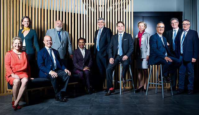 members of the BIC board sitting